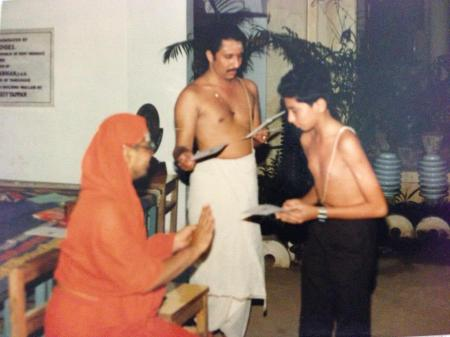 Yogalayam best student award (1991), presented by Swami Paramarthananda